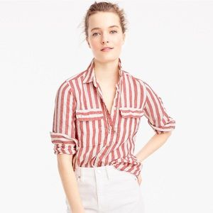J.Crew Size 2 Long Sleeve Button Down Striped Top